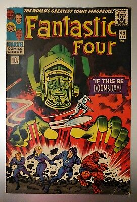 Fantastic Four #49. 2nd Galactus and Silver Surfer. Marvel Key. VERY GOOD +