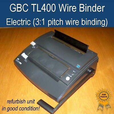 Refurbished GBC electric wire binding / binder TL400 (good working condition)