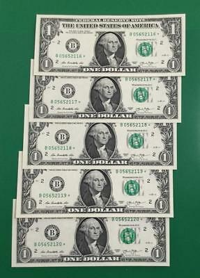 2013 $1 Choice Uncirculated *** 5 STARS *** New YOrk Consecutives X116 Currency