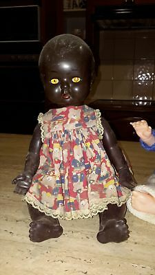 earlyKADER doll, black 16.5 inches NO RESERVE, BLACK