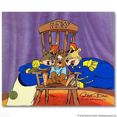 Sold Out  Chuck Jones  Bear For Punishment Cel Hand Painted Color Signed & No