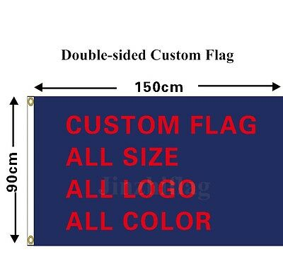 Double Sided Custom Flag Banner All Color 3x5FT Polyester, free shipping