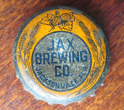 Vintage JAX Beer Cork Bottle Cap (orange), Jax Brewing, Jacksonville FL