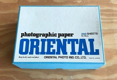 Oriental Photo Paper Graded 2 250 sheets Unopened Box 13x18cm (5x7inches)