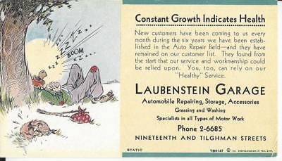 1928 Allentown, PA Laubenstein Garage Ink Blotter