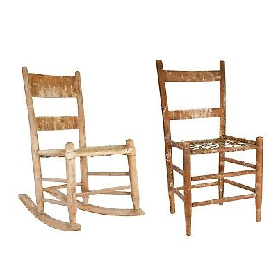 Pair of Ranch Made Chairs Montana 19th century