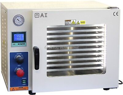 Ai 5 Sided 0.9 CF 110V Vacuum Oven w/ St St Tubing Delivers Superior BHO Extract