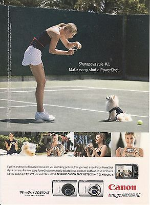 2007 Tennis Champ Maria Sharapova for Canon Cameras print ad   Great to frame!