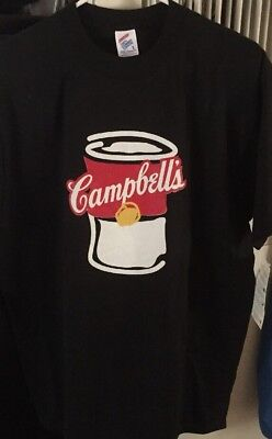 Mens Campbell's Soup Black Adult T-shirt Size Large NWT