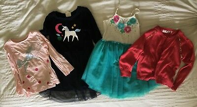 Girls Size 4 Cotton On Kids Clothing- Dresses, Cardigan, Long Sleeve Shirt