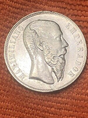 Mexico Imperial Era 50 Cent Maximiliam Very Nice