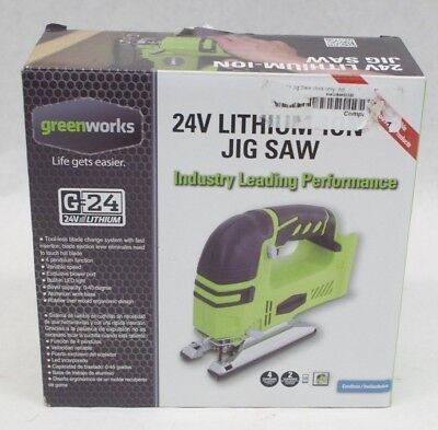 NEW Greenworks 24V Lithium-Ion Cordless Jig Saw