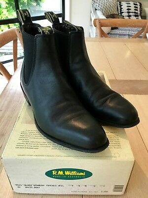 R M Williams Wimmera Dress Boots Size 7 G Immaculate Condition