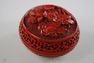 Chinese Vintage Cinnabar Lacquer Lidded Box
