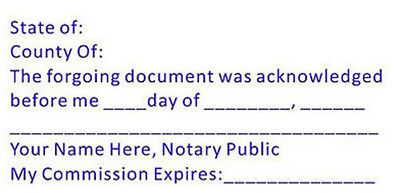 (ACK-NOTARY) - Custom Acknowledgment Stamp - Self-Inking Trodat 4926 -Notary