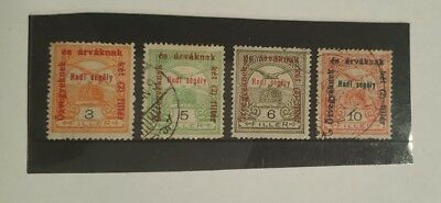 stamps  hungary 1915-16  - MH and used  - lot 41