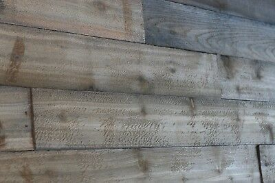 """Aged weathered Barn Wood / Pallet wood 6""""x 36""""x 5/8"""" 10 Pack 15 SQFT !Free Ship!"""