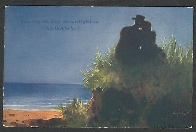 e1198)    LOVELY IN THE MOONLIGHT AT ALBANY WESTERN AUSTRALIA FROM 1916