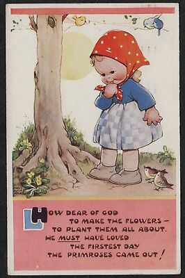 """e1352)          VINTAGE COMIC POSTCARD:    MABEL LUCY ATTWELL  """" H """""""