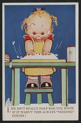 """e1350)            VINTAGE COMIC POSTCARD:    MABEL LUCY ATTWELL  """"L"""""""