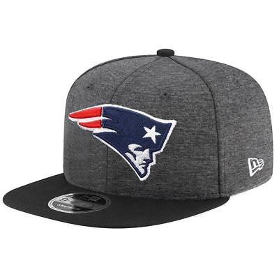 Youth New England Patriots New Era Cap NFL 9Fifty Flat Brim Hat In Graphite