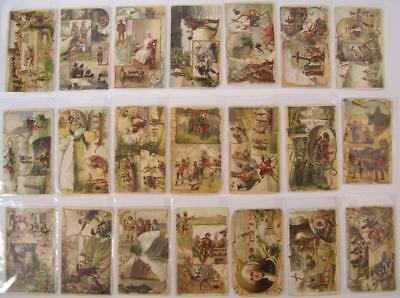 Lot of 22 1892 ARBUCKLE COFFEE TRADING CARDS * HISTORY OF UNITED STATES & TERRIT