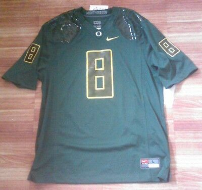 de5a5adf7ceb5 NEW NIKE OREGON Ducks Mens #8 or #6 authentic NCAA Football Jersey L, M or S