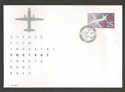 SWEDEN - 1987 Swedish Aviation Industry  - FIRST DAY COVER