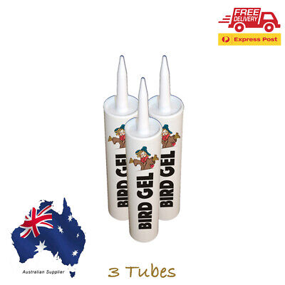 3  X Tubes Bird Proof  Repellent Gel, Deters, Scares, Gets Rid Of Birds
