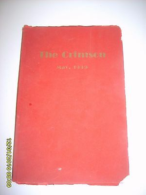 RARE Old Vintage 1939 Manual High School Louisville KY The Crimson Yearbook SC