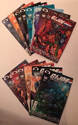 14 GI Joe Frontline Issues From #1-16 VF - NM