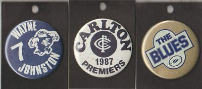 Carlton F.c -Afl- Collectors Team Supporters / Cheer Squad  Metal Buttons  New