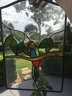 Lead Light Stained Glass Panels Parrot
