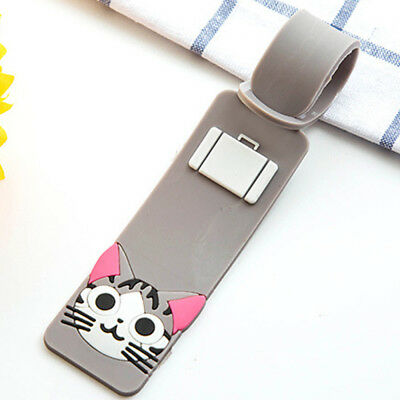 Cute Silicone Cartoon Travel-Luggage Tags Suitcase Baggage Labels Name Address