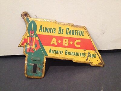 Alemite License Plate Topper Vintage Soldier Rare Collectible USA