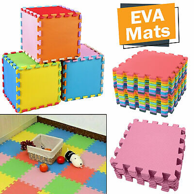 Interlocking Eva Mats Foam Exercise Soft Floor Kids Gym Garage House Office New