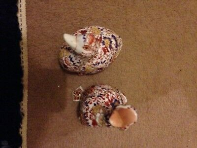 chinese ducks signed and patterned