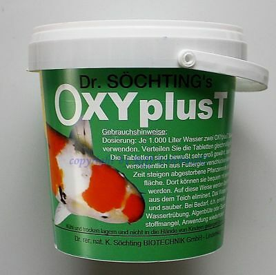 Dr.Söchting`s oxyplust 1kg sauerstofftabletten for Clear Pond Water 27,90 €/