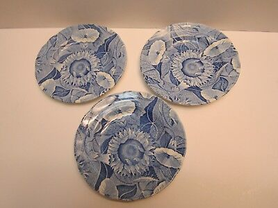 """The Spode Blue Room Collection """"Sunflower"""" Bread & Butter Plates- set of 3 NWOT"""