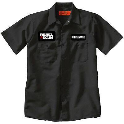 REBEL SCUM CHEWIE Star Wars Jedi Mechanic style Work SHIRT Black punk cosplay