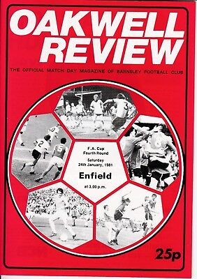 Barnsley v Enfield FA Cup 4th Round 1980/81