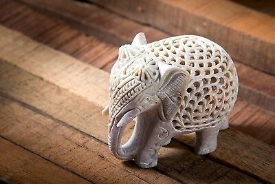 "Artist Haat 2.5"" Hand Craft Elephant Sculpture Wealth Animals Figurine"