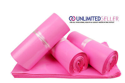 100 LARGE PINK BAGS OF 12x16 INCH STRONG POLY MAILING POSTAGE 50MU SELF SEAL XL