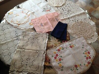 Bulk Embroidered Doilies And Runners - 20 Items