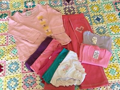 **New**Girls Size 2 Singlets, Knickers, Top & A Pair Of Track Pants
