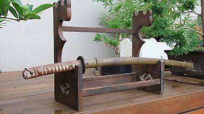 Genuine Antique Japanese Katana Kake Sword Stand Rack (late1800s-early 1900s)