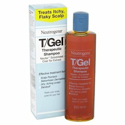 T/Gel Neutrogena 250ml Therapeutic Shampoo Itching Psoriasis Dandruff Packs