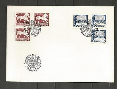 SWEDEN - 1973 Horse and Viking Ship      - FIRST DAY COVER