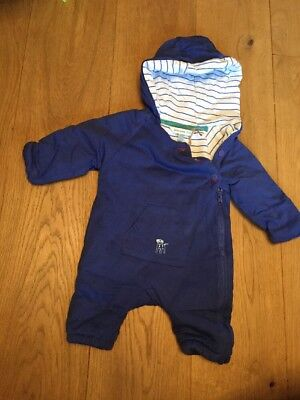 Baby Boys John Lewis All In One Quilted Coat Snowsuit Size Newborn