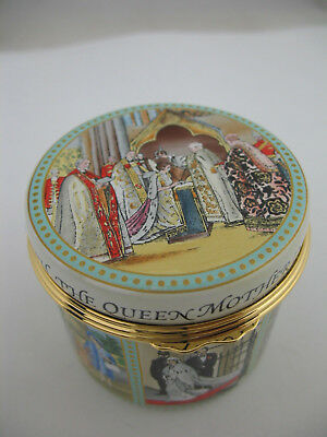 Halcyon Days Enamel Box: Tribute to Queen Mother Centenary, LE 616/2000